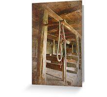 Horse Barn: Montana Greeting Card