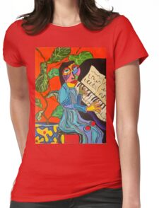 Piano Lady Womens Fitted T-Shirt