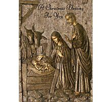 A Christmas Blessing Photographic Print