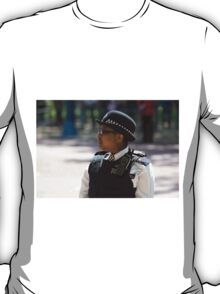 Police officer on duty during the State Opening Of Parliament London T-Shirt