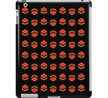 Retro Flower - Black iPad Case/Skin