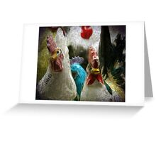 Antique Chickens Greeting Card