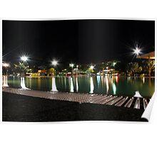 Cairns lagoon at night Poster