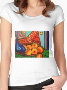 Picasso's Fruit Women's Fitted Scoop T-Shirt