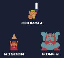 NES Triforce - Courage Wisdom Power - Zelda Kids Clothes