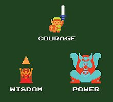 NES Triforce - Courage Wisdom Power - Zelda by Deezer509