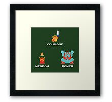 NES Triforce - Courage Wisdom Power - Zelda Framed Print
