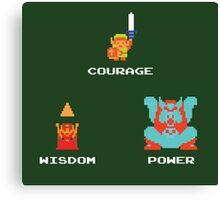 NES Triforce - Courage Wisdom Power - Zelda Canvas Print