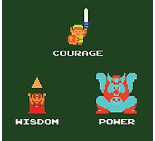 NES Triforce - Courage Wisdom Power - Zelda Photographic Print