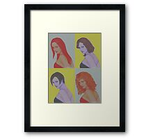 Hairdos Framed Print