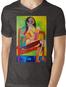 Sitting In The Sun Mens V-Neck T-Shirt