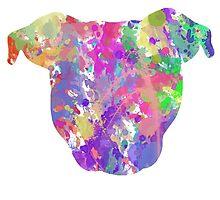 Paint Splatter Pittie by Savannah Terrell