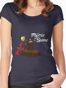 Mjolnir in the Stone Women's Fitted Scoop T-Shirt