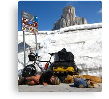 The Pass, Italian Dolomites Canvas Print
