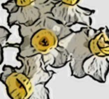 Mini Daffodil Bunch (on grey) Sticker