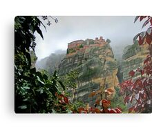 Meteora Monastery World Heritage Site Metal Print