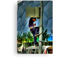 Cube Worker. Canvas Print