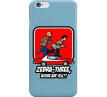 Zebra-Three, Where Are You? iPhone Case/Skin