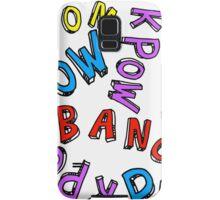 Comic Book Words Samsung Galaxy Case/Skin