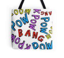 Comic Book Words Tote Bag
