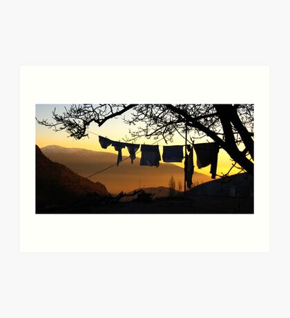 Underpant sunset, Spain Art Print