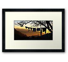 Underpant sunset, Spain Framed Print