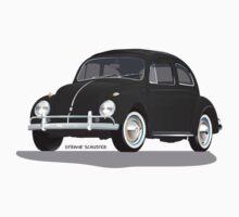 VW Beetle Bug Kaefer Black by Frank Schuster