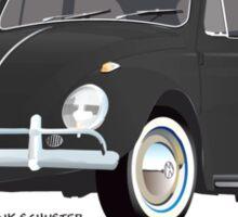VW Beetle Bug Kaefer Black Sticker