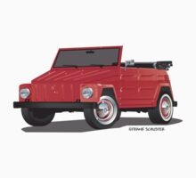 VW Volkswagen Thing Convertible Red by Frank Schuster