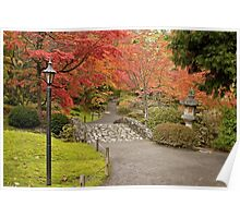 Japanese Gardens in the Washington Park Arboretum Poster