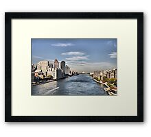 Looking North Up The East River Framed Print