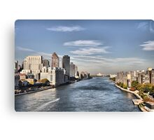 Looking North Up The East River Canvas Print