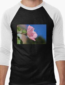 Pink Rose Blue Sky Men's Baseball ¾ T-Shirt