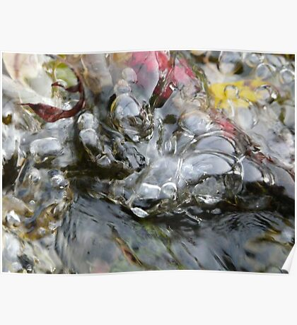 Colorful Bubbles in the River Poster