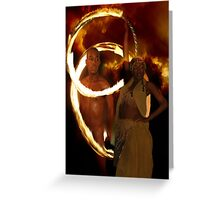 Fire Rings Greeting Card