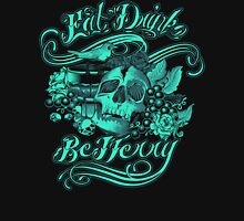Eat Drink Be Merry - Skull with Grail and Robin  T-Shirt