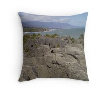 pancake rocks Throw Pillow
