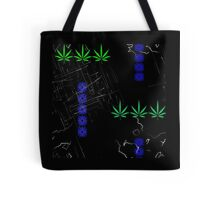 Marijuana Leaves and Scratches Tote Bag