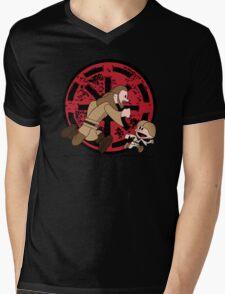 Lets Be Jedi (Qui Gon & Anakin EP1) Mens V-Neck T-Shirt