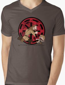 Lets Be Jedi (Qui Gon & Anakin EP1) Mens V-Neck T-Shirt