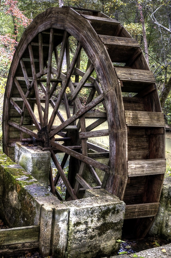 Topaz Mill Waterwheel by Terence Russell
