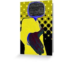 Yellow Controller Greeting Card