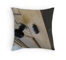 admission granted (old wood door) Throw Pillow
