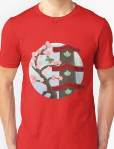 Zen Birdhouse and Blossoms T-Shirt