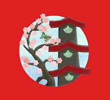 Zen Birdhouse and Blossoms Unisex T-Shirt