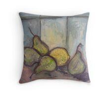 Four Pears and a Lemon Throw Pillow