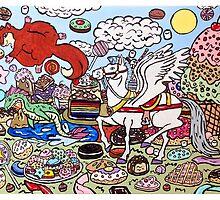 The Pegasus in Candy Heaven by ArtReachStudios