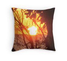 Sunset Gold Bahamas Throw Pillow