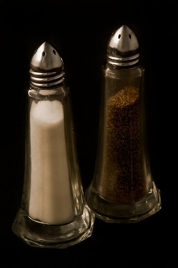 Salt and Pepper shaker by Jeffrey  Sinnock