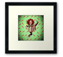 Alfred (Weird Al) Yankovic and Harvey the Wonder Hamster Framed Print